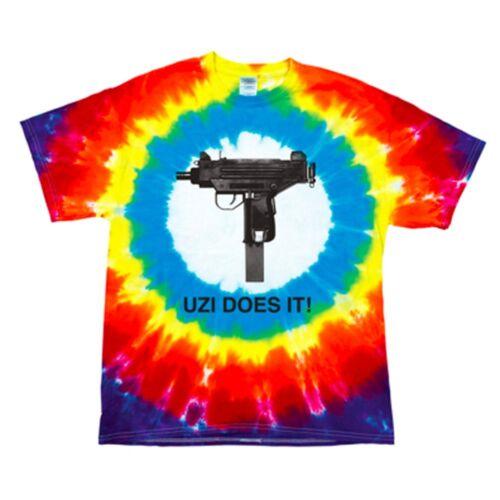 CLEARANCE  SRP £27.99 Skate Mental Skateboard Uzi Does It Gun Tie Dye TShirt