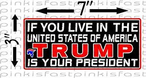 TRUMP-IS-YOUR-PRESIDENT-Decal-Sticker-Bumper-Political-Sucks-Obama-Funny-Hillary