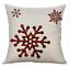 "Decorative Christmas Plaid Snowflake Throw Pillow Cover Case 18x18/"" **US SELLER!"