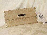 Michael Kors Gold Austin Flat Continental Wallet. New.