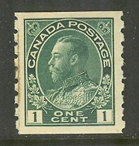 Canada #125, 1912 1c King George V - Admiral Issue Coil Paste-Up, Unused Hinged