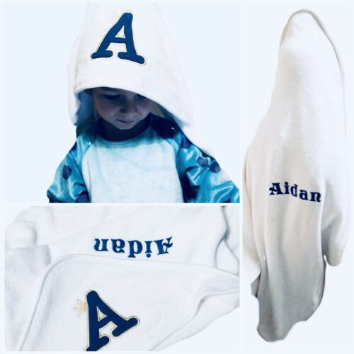 Robe Initials Name Newborn Gift Personalized Embroidered Baby Hooded Towel