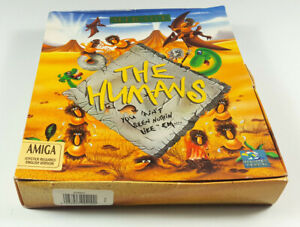 THE-HUMANS-Commodore-Amiga-Spiel-Big-Box-OVP-VGC-CIB-Vintage-Collectible