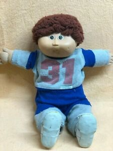 Cabbage Patch Kids Doll Cpk Boy Brown Yarn Hair 31 Active Suit Shoes Vintage Ebay