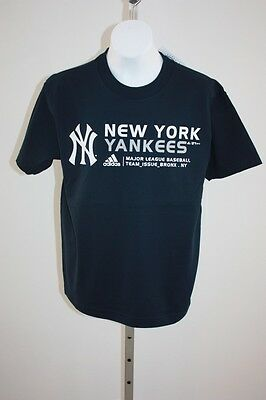 Sport Nwt New York Yankees Jugendliche Mittelgross M 10/12 Marineblau Adidas T-shirt Modernes Design Weitere Ballsportarten