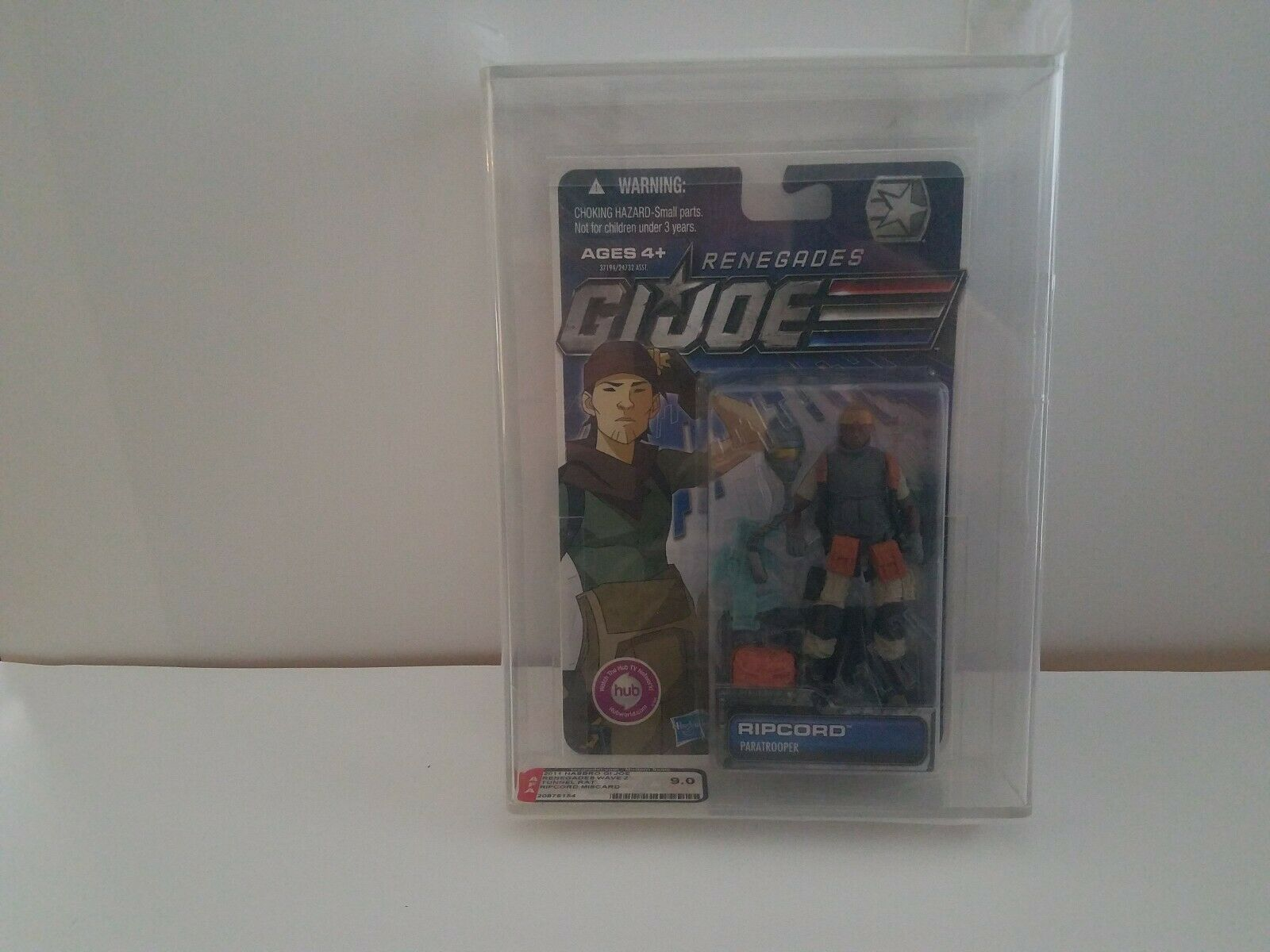 Gi Joe AFA 9.0 Error Misscard Ripcord on Tunnel Rat Card Renegades 30th POC