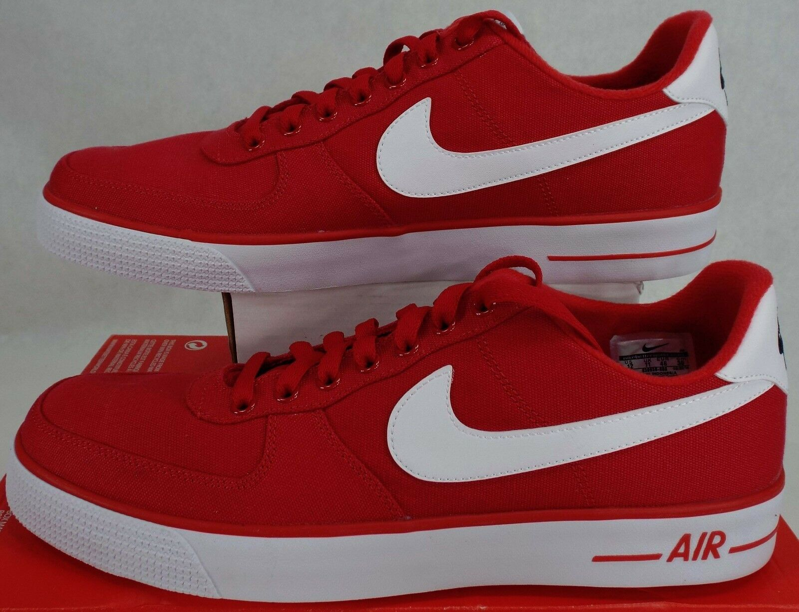 New Mens 12 NIKE Air Force 1 AC University Red White Shoes 75 630939-600