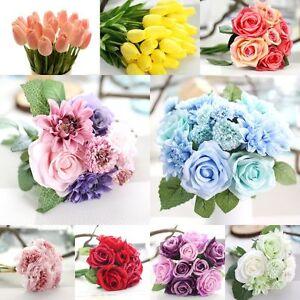 Seda-Artificial-Falso-Flores-Peonia-Floral-Boda-Ramo-Novia-Hortensia-Decoracion