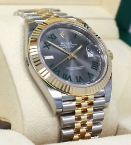2f6eea3d825 Rolex Datejust 41mm 126333 Jubilee 18K Yellow Gold /SS Roman Dial ...