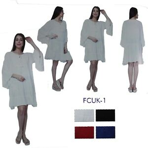 84e0dc3aae Image is loading Women-INDIAN-Pakistani-Designer-Embroidery-Kurta-Kurti- Tunic-