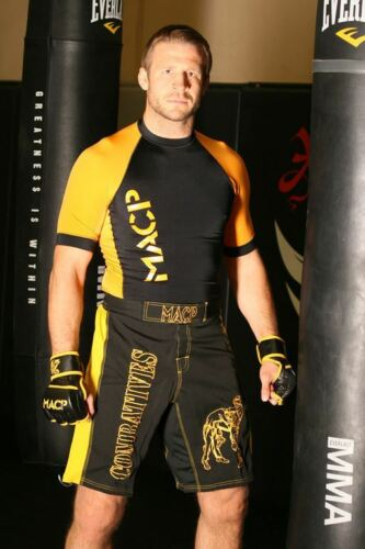 Black and Gold MACP Rash Guard