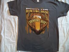 New Men's Size XL Hunting Deer Drinking Beer Funny T Shirt NWT Deer Hunting