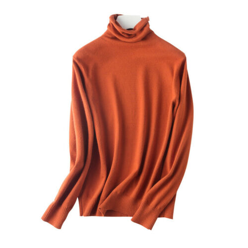 Damen Rollkragenshirt T-shirt Top Long Langarmshirt Rolli Rollkragenpulli Shirts