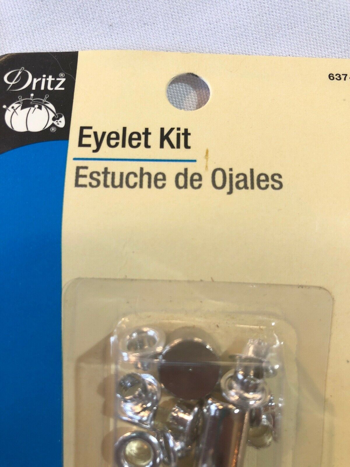 """72 Sets — Free Shipping Dritz Extra-Large Eyelets 7//16/"""" Brass W// Tools"""