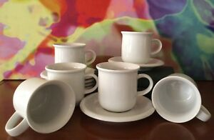 Arzberg-Set-Of-Six-Porcelain-Cups-amp-Saucers-8-oz-Made-In-Germany