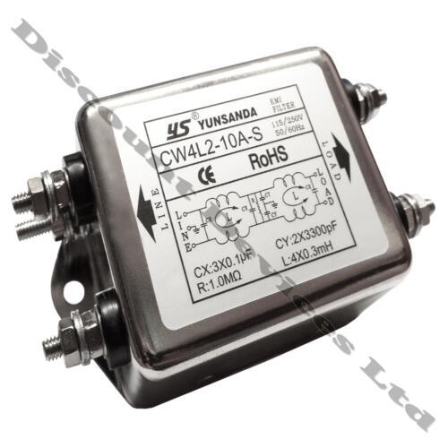 2 etapas filtro de ruido de alimentación de Red Line EMI supresor de sistema de fase única de 1 10A