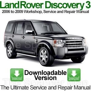 land rover discovery 3 2006 to 2009 workshop service and repair rh ebay co uk 2006 LR3 Interior 2006 land rover lr3 service manual