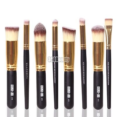 8Pcs Professional Make Up Brush Set Foundation Blusher Kabuki Brushes Set