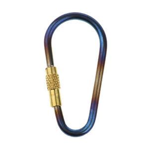 30pcs Clips MINI Locking D Hiking Camping Carabiner Keychain Key Ring Holder