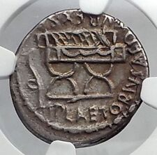 Roman Republic 67BC Cybele Curule Chair Ancient Silver Coin of Rome NGC i59933
