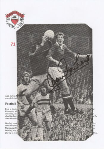ALAN GOWLING MANCHESTER UNITED 19671972 ORIGINAL HAND SIGNED ANNUAL CUTTING
