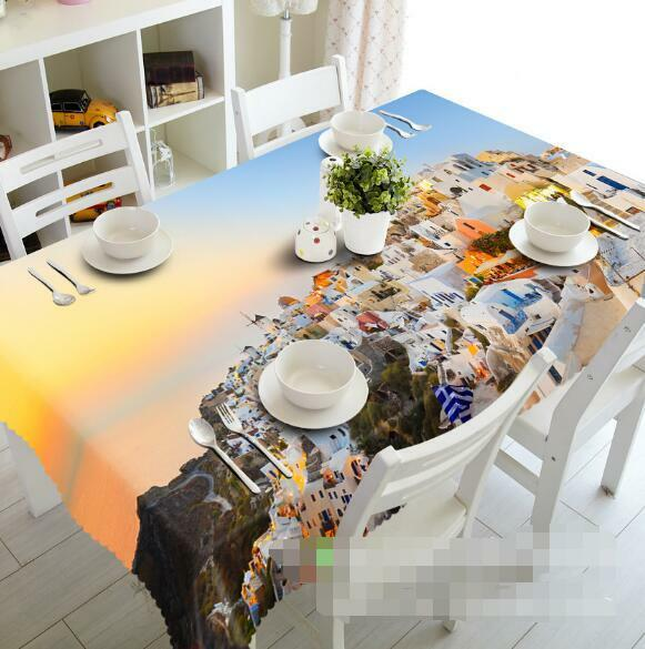 3D City Town 4 Tablecloth Table Cover Cloth Birthday Party Event AJ WALLPAPER AU