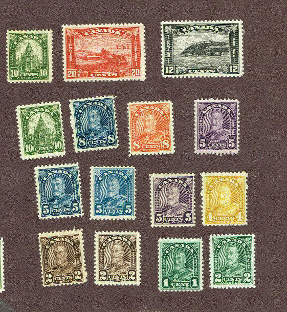 CANADA F-VF MH 175 ETC ARCH ISSUE     (BER30,3