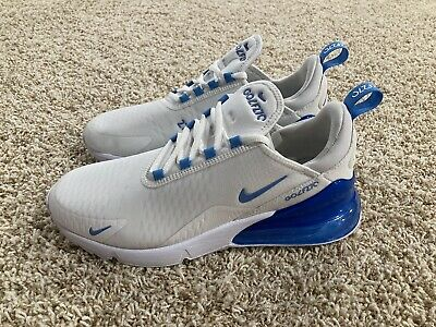 Nike Air Max 270 Golf Shoes White University Blue Ck6483 101 Men S Size 8 Ebay
