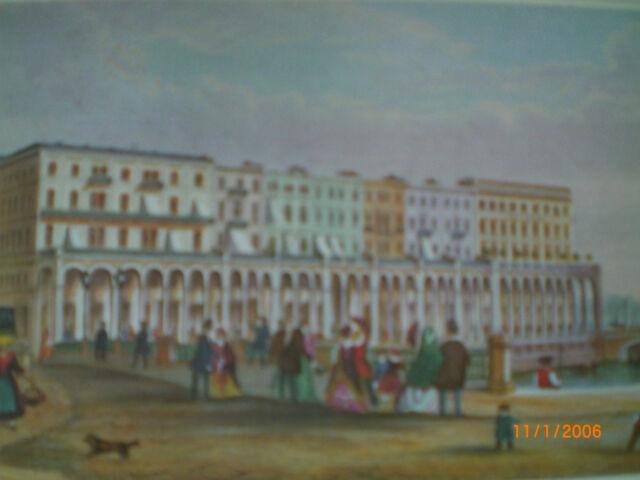 Die Alsterarkaden in Hamburg 1848