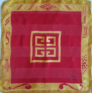 44f33c00afaf Superbe Foulard tour de cou GIVENCHY 100% soie TBEG vintage scarf   eBay