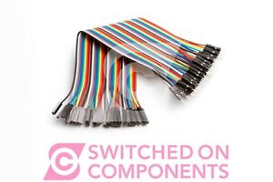 40pcs-Dupont-Male-to-Female-Jumper-Wire-Ribbon-Cable-Pi-Pic-Breadboard-Arduino