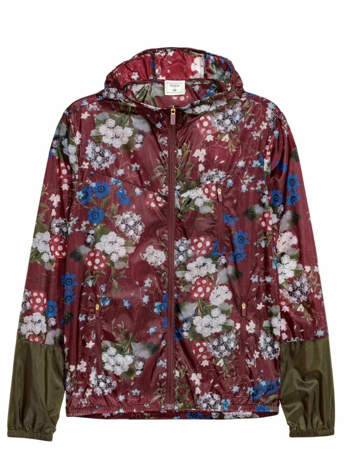 ERDEM X H&M Floral-patterned Nylon Windbreaker Size M