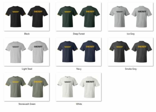 Custom County Deputy Sheriff Law Enforcement T-Shirts S-5XL