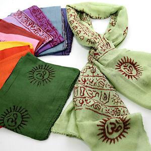 Schal-Benares-Mantra-Tuch-Ram-Nam-Lunghi-130-x-60-Indien-Goa-Hippie-Bollywood-S