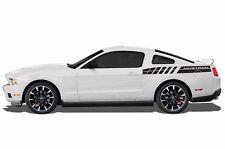 Vinyl Decal Wrap Kit for 2010-14 Ford Mustang GT Emblem Rear Stripes MATTE BLACK