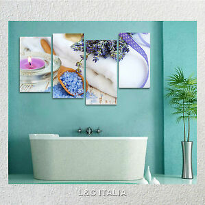 Lavanda zen 3 quadri intelaiati 152x78 quadro benessere - Quadri per il bagno ...