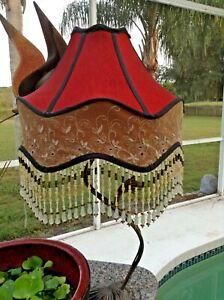 Dale Tiffany Beaded Ruby Table Lamp Shade Lampshade Ebay