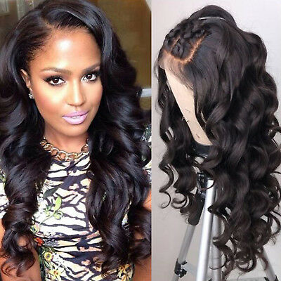 100% Remy Peruvian Human Hair Full Lace Front