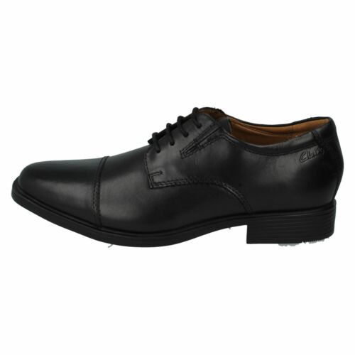 Shoes Cap Mens Black Up Lace Clarks Style Leather Tilden qpX7fx6wv