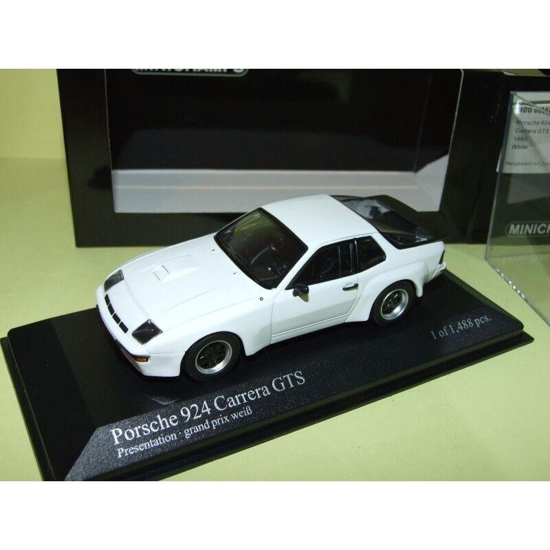 Porsche 924 carrera gts 1980 white minichamps 1 43