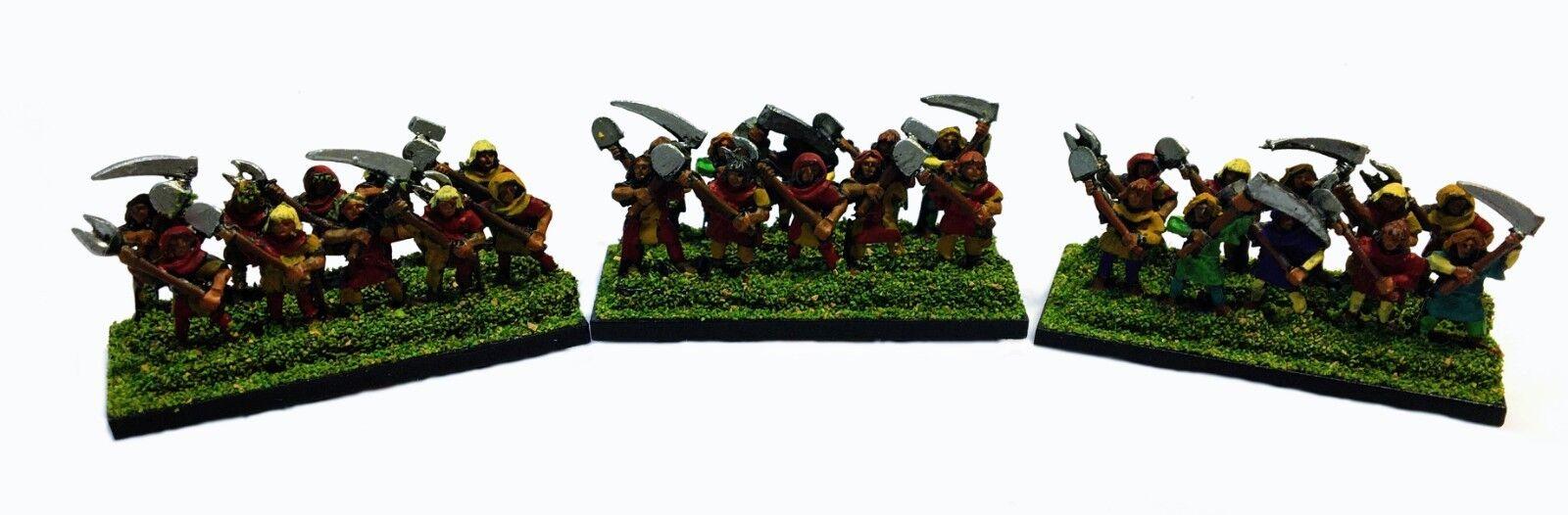 Warmaster - Bretonnian Campesinos - 10mm - PAINTED
