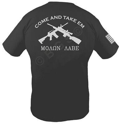 COME AND TAKE IT THEM T shirt MOLON LABE M1A /& AR-15 S-3X 2ND AMENDMENT PRO GUN