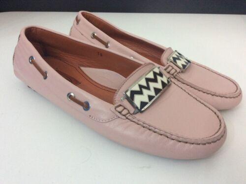 On Mocassini Slip Pink Leather Missoni Size New Bnwob Uk 38 5 xwz5vqB05
