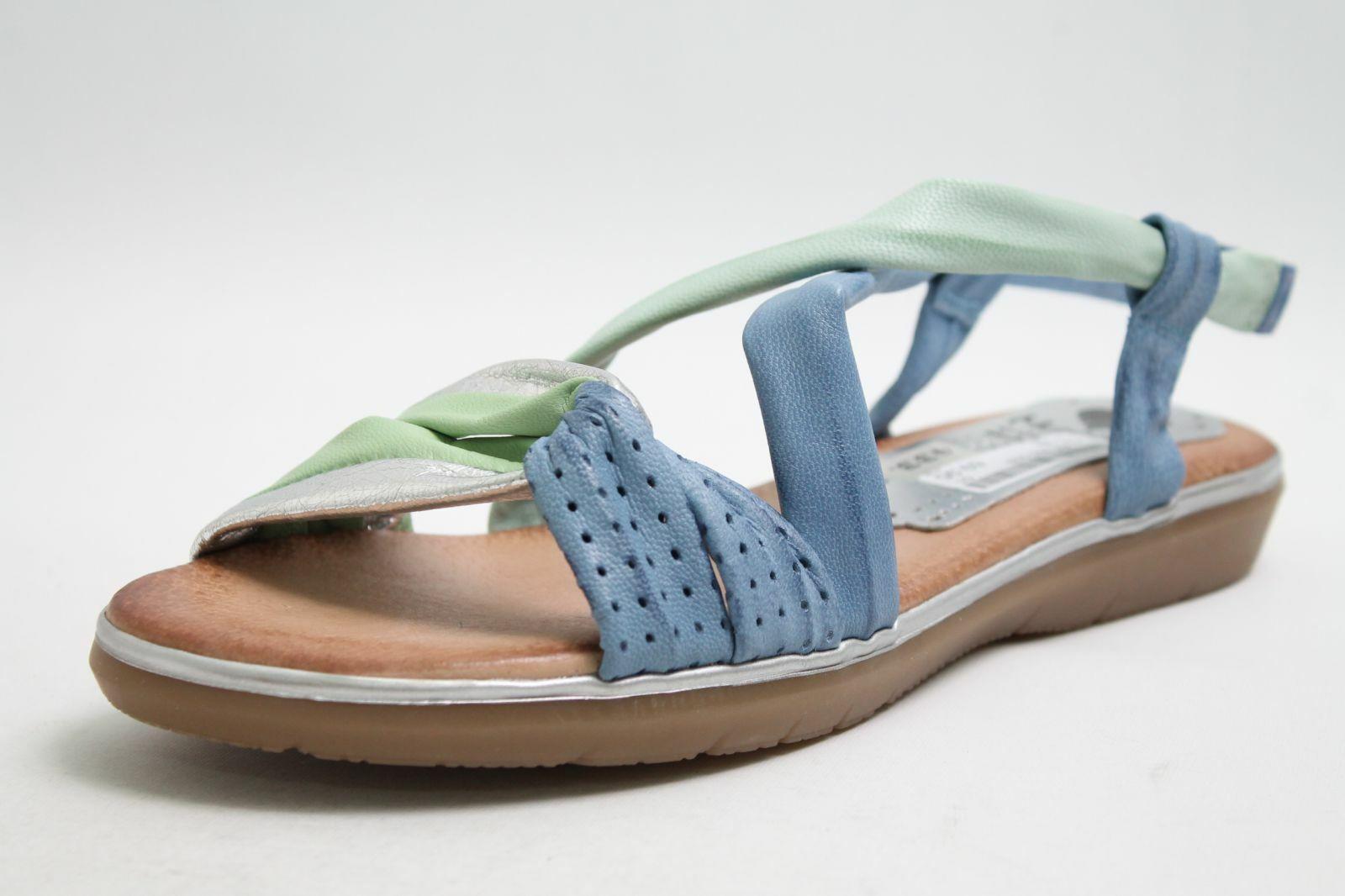Marila Sandaletten blau Leder komfort Fußbett Vario Damen