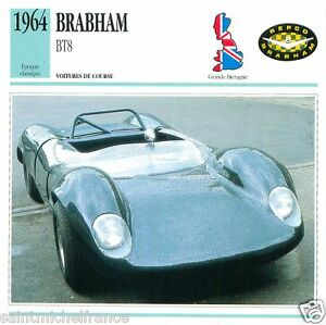 BRABHAM-BT8-1964-CAR-VOITURE-Great-Britain-GRANDE-BRETAGNE-CARTE-CARD-FICHE