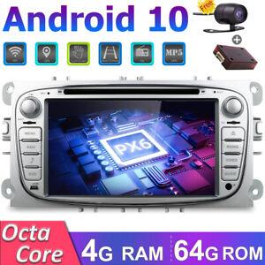 64GB Autoradio Für Ford Focus Mondeo C-MAX Galaxy Android 10 GPS Navi DVD 4G BT