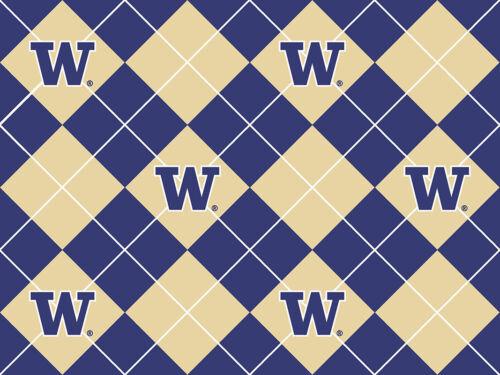 UNIVERSITY OF WASHINGTON FLEECE FABRIC-WASHINGTON HUSKIES FLEECE-ALL PATTERNS