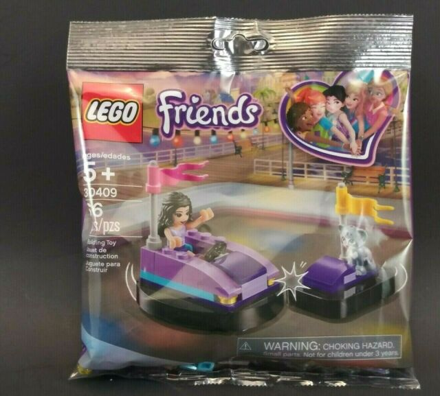 New Sealed Polybag! LEGO 30409 Emma/'s Bumper Cars Friends Cat Kitten Purple