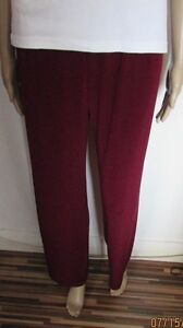 Nwt Maroon Wide Leg Trousers Size 16/18 Feines Handwerk Kleidung & Accessoires Hosen