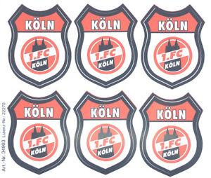 Details Zu 1 Fc Köln Aufkleber Sticker 6 Logos Wappen Bundesliga Fussball 552